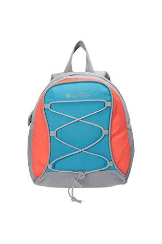 Mountain Warehouse Walklet 6L Rucksack - Reflective Details Casual Daypacks, Bottle Pockets Backpack, Bungee Cords Bag, Shoulder Straps - Best for Picnics, Outdoors Bright Blue