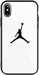 1 piece GYKZ Jordan Phone Cases For iPhone XS MAX XR X 7 8 6 6s Plus Luxury Sports Simple Glossy Tempered Glass Back Cover Coque Capa
