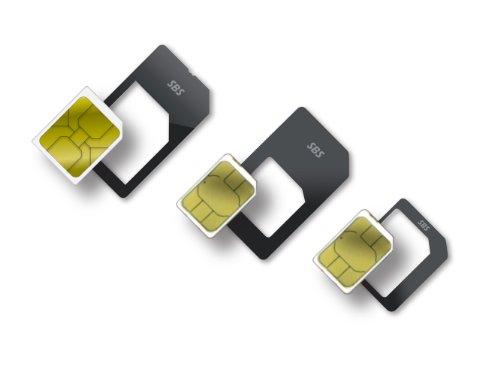 SBS TE0SSA582 - Adaptador de tarjeta SIM para smartphones (Nano/Micro/Standard), negro