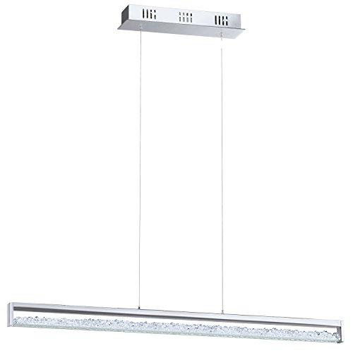 Preisvergleich Produktbild EGLO Hängeleuchte Länge 100 cm,  Aluminium,  Integriert,  Chrom,  100 x 8 x 110 cm