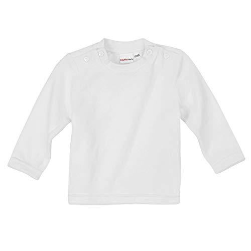 BORNINO Basics Nicki-Shirt langarm weiß/Pullover/Sweatshirt/Oberteil für Jungen-Mädchen