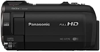 Panasonic Full HD Video Camera Camcorder HC-V770, 20X Optical Zoom, 1/2.3-Inch BSI Sensor, HDR Capture, Wi-Fi Smartphone...