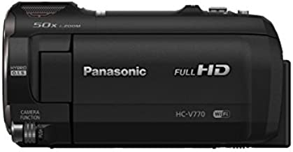 Panasonic Full HD Video Camera Camcorder HC-V770, 20X Optical Zoom, 1/2.3-Inch BSI Sensor, HDR Capture, Wi-Fi Smartphone Multi Scene Video Recording (Black)