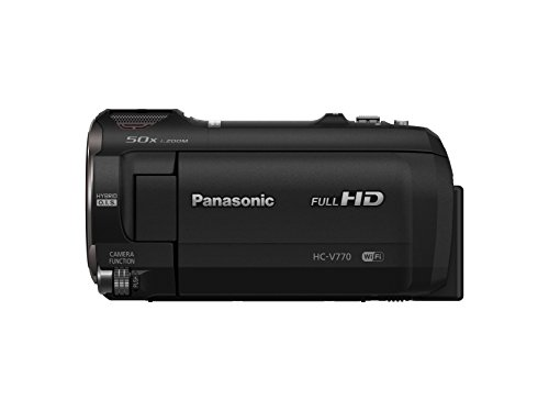 Panasonic Full HD Video Camera Camcorder HC-V770, 20X Optical Zoom, 1/2.3-Inch BSI Sensor, HDR Capture, Wi-Fi Smartphone Multi Scene Video Recording (Black)