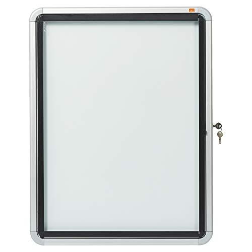 Nobo Schaukasten für den Außenbereich (4 x A4, mit magnethaftender Rückwand und Sicherheitsschloss) weiß