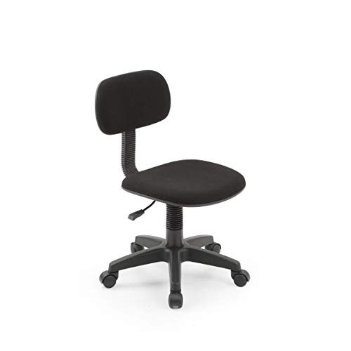 Hodedah Armless, Low-Back, Adjustable Height, Swiveling Task Chair