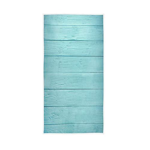 LUCKYEAH - Toallas de playa de madera para niñas mujeres niños toallas de mano de algodón suave absorbente toalla de sudor para el hogar, hotel, piscina, gimnasio, 76 x 38 cm