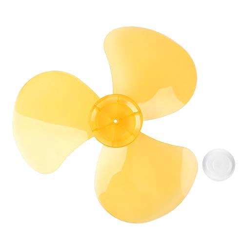 Freebily 3Piezas 16 Inches Aspas Hojas Plásticas de Ventilador Con/Sin Tuerca para Ventilador de Techo,Ventilador de Pie,Ventilador de Mesa Repuestos Ventilador Naranja One Size