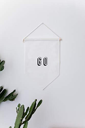 GO Banner, muurbekleding, wanddoek, wandtapijt, kamerdecoratie, vaandel vlag, muurbehang, stoffen behang, wandvlag, vlag