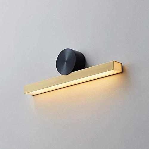 YONGYONGCHONG Lámpara de pared de latón con luz brillante y metal acrílico, longitud de 45 cm de alto, 13 cm de alto, dormitorio, estudio, comedor, sala de estar, luz cálida