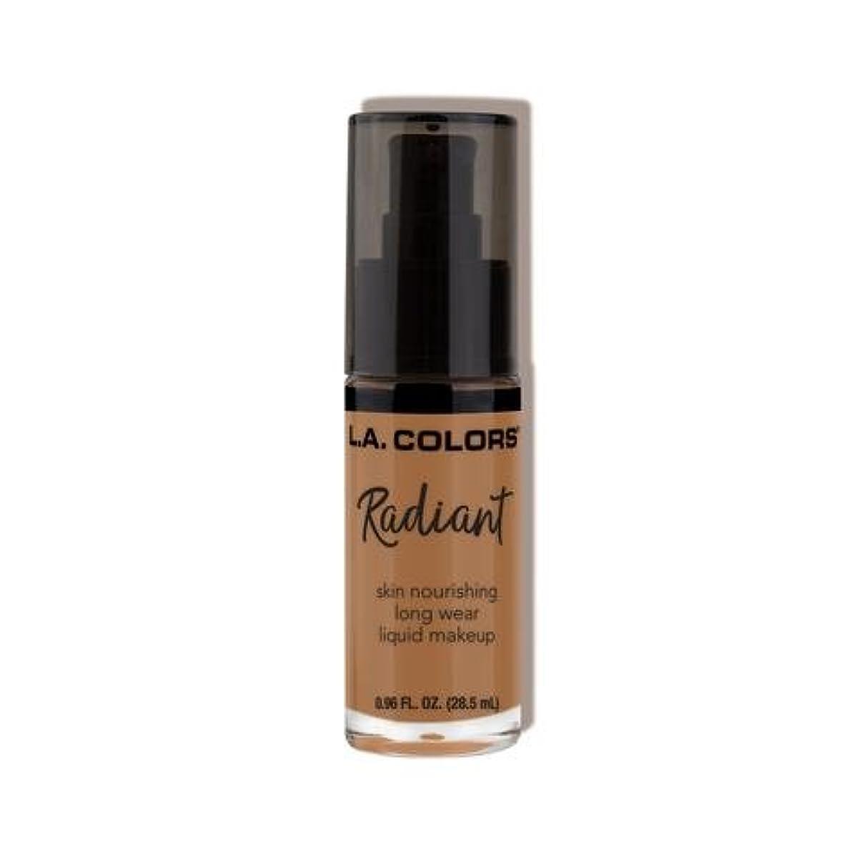 コットン水選出する(6 Pack) L.A. COLORS Radiant Liquid Makeup - Chestnut (並行輸入品)