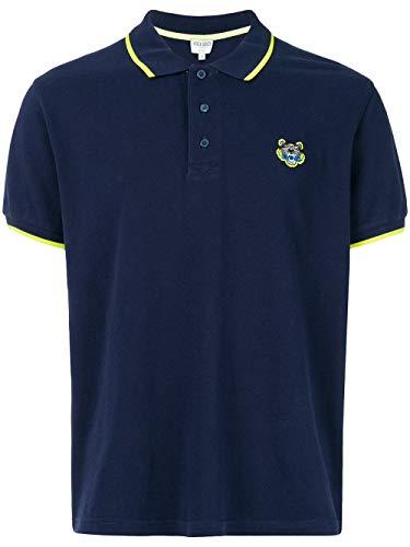Kenzo Tiger Head Polo Shirt voor heren Navy Blauw XXXL