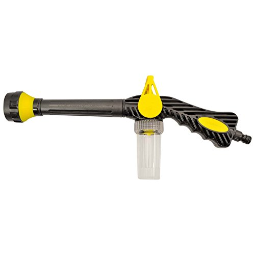 8 in 1 Waschpistole mit 8 Sprüheinstellungen - Integrierte Schaumdüse - Wasserkanone Schaumkanone Schaumpistole für Haus & Garten und Autowäsche mit Autoshampoo Funktion
