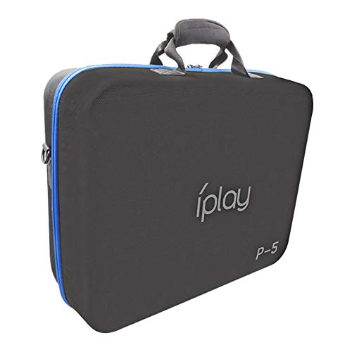 Tragetaschen-Tasche, Reisekoffer für PS5-Spielkonsole, große Kapazität wasserdichtes Drop-Proof-Aufbewahrungstasche für PS5-Host, Gaming-Zubehör-Organizer für Disc-Fernbedienung