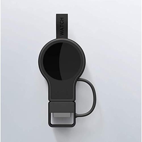 Adecuado para cargador inalámbrico magnético rápido portátil de la serie Apple Watch, carga inalámbrica de reloj, diseño de llavero con cargador USB