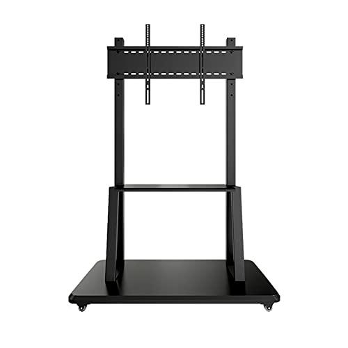 Soporte de suelo para TV, soporte de TV alto ajustable en altura Soporte TV independiente para pantallas LCD LED panel plano 40-90 pulgadas Admite hasta 80 KG/Black / 110x55cm