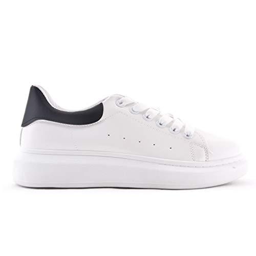 Scarpe Donna Sneaker Bianche Nere Casual (Numeric_40)