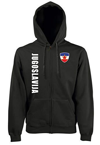 Aprom-Sports Jugoslawien ZIP Hoodie Jacke -Kapuzen Sweat Sport Trikot SC Look (L)