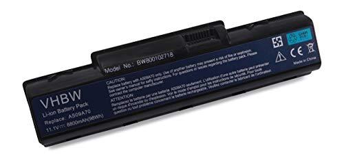 vhbw Batterie LI-ION 8800mAh 11.1V Noire pour Acer Aspire 5732ZG etc. rempalce AS09A31, AS09A41, AS09A56, AS09A61, AS09A71 etc.