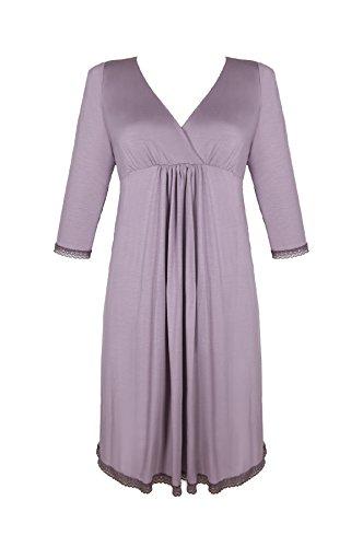 baiba 3/4 Femme Chemise de nuit d'allaitement/Fait Chemise de nuit/robe de nuit de charme dans Taille 36–44 - -