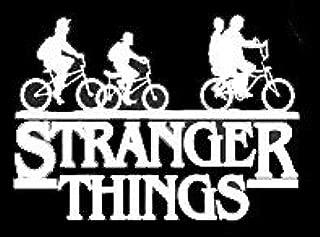 LLI Stranger Things Gang | Decal Vinyl Sticker | Cars Trucks Vans Walls Laptop | White | 5.5 x 4 in | LLI1099