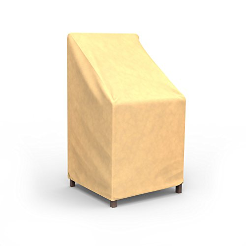 Budge All-Seasons Patio Stack of Chairs Cover / Barstool Cover (Tan)
