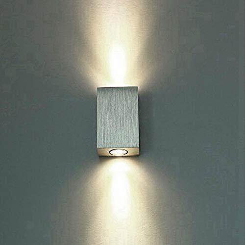 Yivibe Lámpara de Pared, lámpara de Pasillo de Pared, lámpara de Pared LED, para Suelo/jardín Interior al Aire Libre