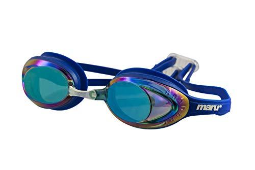 maru AG5706 Schwimmbrille, Blau/Violett/Blau, Für Erwachsene