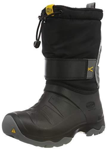 KEEN Unisex Kinder Lumi Boot Ii Wp Halblange Stiefel, Schwarz (Black/Steel Grey), 32/33 EU