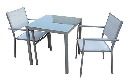 VDC Ensemble table carrée 70 x 70 + 2 chaises