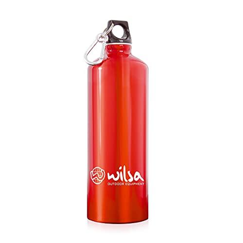 Wilsa – Botella reutilizable – Botella de senderismo – 1 l