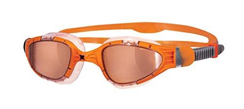 Zoggs Aqua Flex Titanium Gafas de Natación, Hombre, Naranja