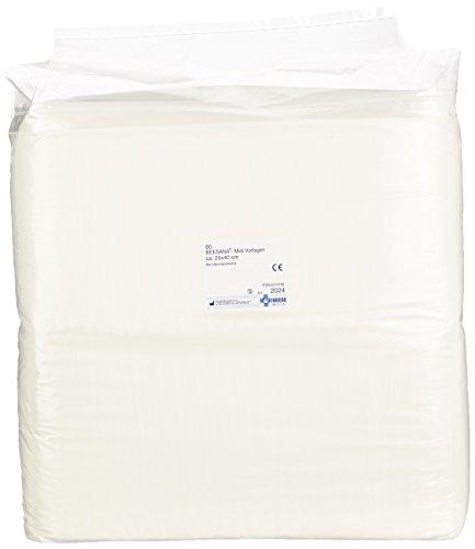 Meditrade 2024 Beesana zuigpatroon met superabsorber, 20 cm x 40 cm grootte (60 stuks)
