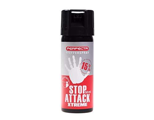 Perfecta Uni Pfeffer Spray 50ml ballistische Verteilung Abwehrsprays Pfefferspray 15{5a26f468a1d4c8e2b6c2123bac2d2023df6ff8b993d8901f2966fc9c9b2fbdf5} OC Inhalt: 50 ml, mehrfarbig, 110mm