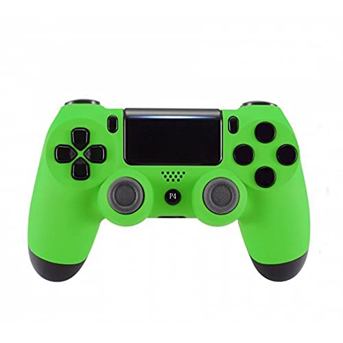 PS4 Controller Wireless Bluetooth Gamepad for Playstation 4 with USB Cable Compatible with Windows PC & Android iOS【Upgraded Version】Green