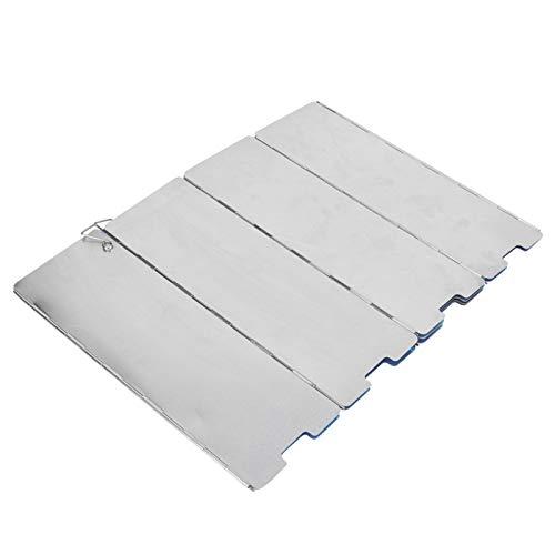 10 pièces en alliage d'aluminium Portable équipement de Camping Camping en plein air cuisinière à gaz poêle pare-vent pour cuisinière de Camping(Silver)