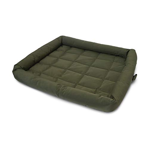 Rosewood Water Resistant Dog Crate Mattress, Washable quilted dog bed, Medium green crate mattress 22 x 30 inch (56 x 76 cm)