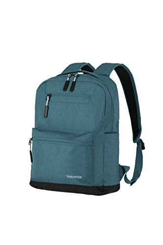 Travelite Hand luggage backpack size M meets IATA cabin luggage dimensions., petrol (Turquoise) - 06917-22