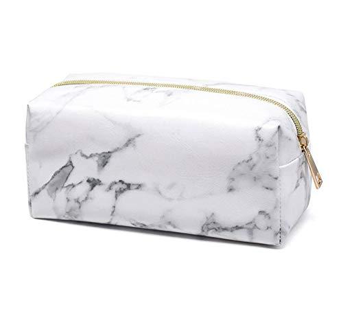 Petay Trousse à maquillage multifonction en marbre pour femme avec fermeture éclair, a, 190 * 70 * 90 mm,