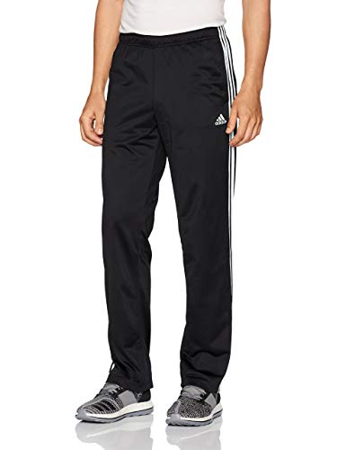 adidas Men's Athletics Essential Tricot 3-Stripe Pants, Black/White, Small