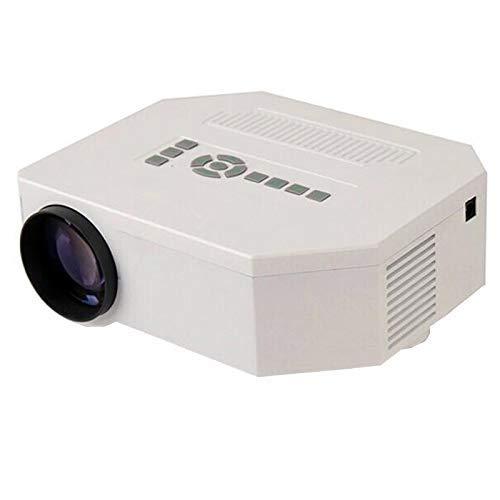 Mhwlai Mini proyector, UC30 Proyector casero HD Micro proyector 1080P Portátil 3D Apple Phone (Blanco)