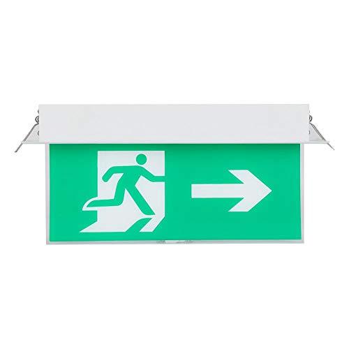 Uitgangsbord, verzonken PMMA LED-veiligheidslicht voor nooduitgangverlichting voor installatie op openbare plaatsen.