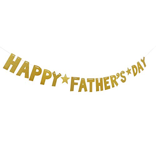 ABOOFAN Happy Fathers Day Banner Paper Daddys Day Bunting Garland for Fathers Day Dad Birthday Party Decorations