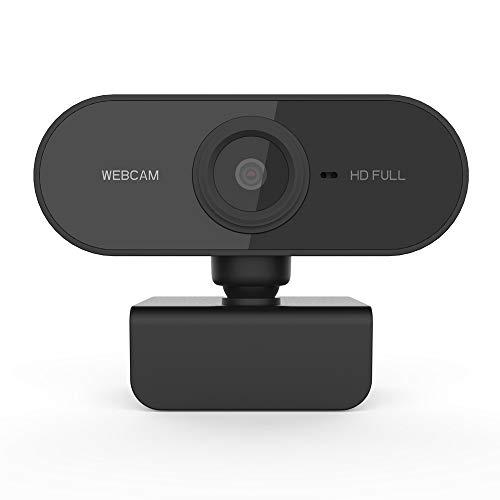 Guangmaoxin Webcam 1080P mit Mikrofon, Full HD PC Webcam, USB 2.0 Webkamera, für Konferenzen, Remote-Video, Live-Streaming und Online-Unterricht