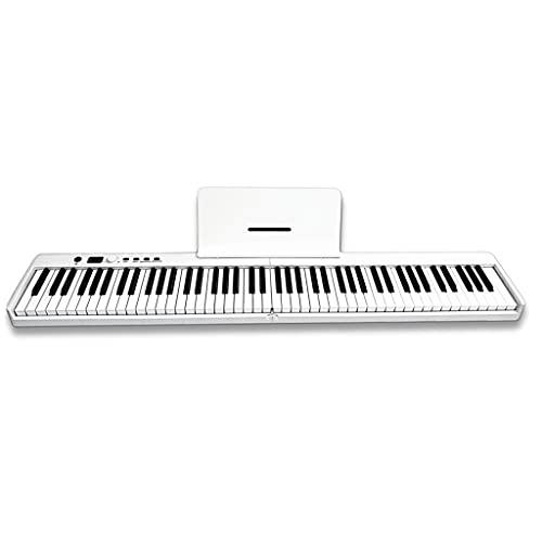 RYSF Órgano electrónico 88 Teclas Teclado electrónico Plegable Piano Digital Multifuncional 128 Tonos 15 Canciones de demostración para Piano Instrumento Musical para Estudiantes (Color :...