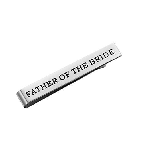 VALICLUD Krawattenklammern Father of The Bride Brautvater Krawattennadel Krawatte Clips Tie Clip für Hochzeit Jahrestag Verlobung
