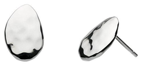 Kit Heath Sterling Silver Pebble Coast Hammered Stud Earrings