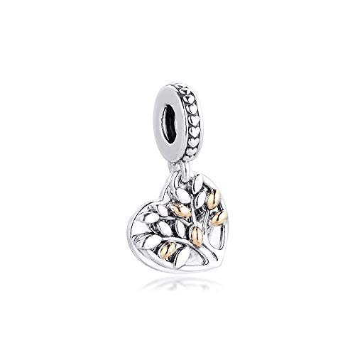 Pandora 925 Jewelry Bracelet Natural Winter K Real Gold Family Tree Charms Sterling Silver Beads For Women Diy Gift