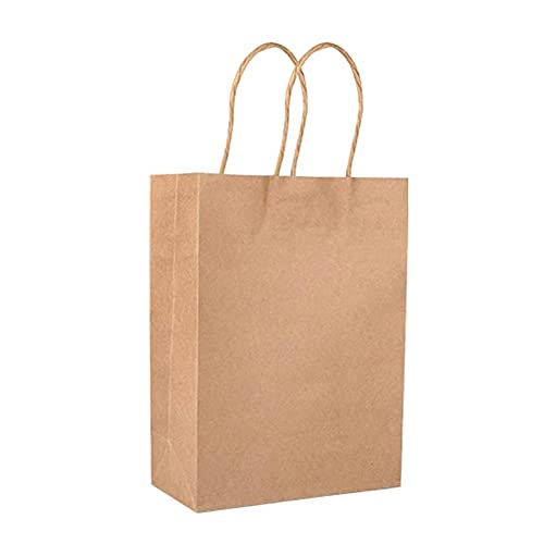 LITU 20Pcs Bolsas de Papel Kraft con Asas Bolsas Reutilizable de Embalaje de Regalo de Color Sólido para Tienda Ropa Boda Fiesta de Navidad Compras Bricolaje (21)