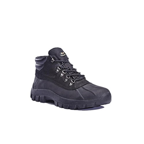kingshow 1428 Water Proof Men Rubber Sole Winter Snow Boots Black Size 7